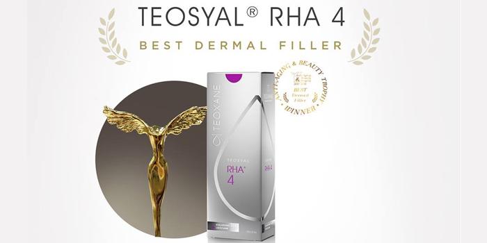 TEOSYAL RHA® 4 được nhận giải BEST DERMAL FILLER - Giải Thưởng Về Sắc Đẹp và Chống Lão Hóa!